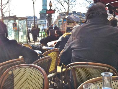 cafe at the Bastille, Paris