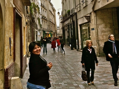 Paris Cafe Writer in the Marais.