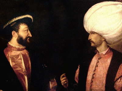 painting of Francis I and Suleiman the Magnificent