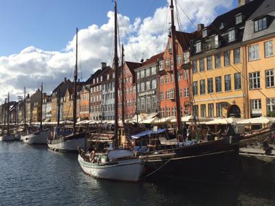 The harbor in Copenhagen.