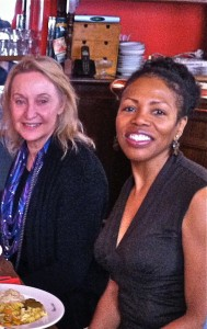 Chicago Tribune columnist Dawn Turner with Patricia Tennison at Paris Cafe Writing