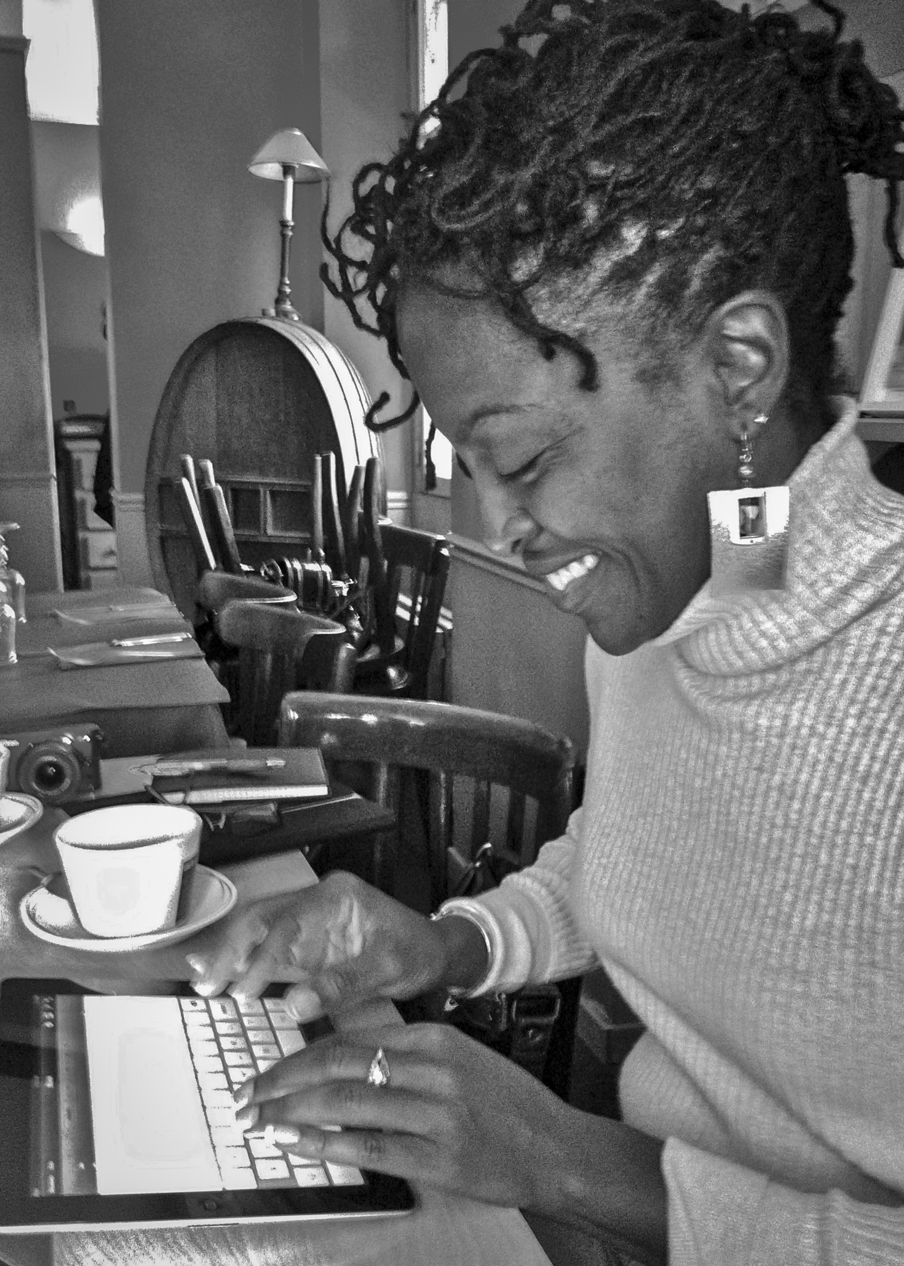 Antoinette at Paris Cafe Writing