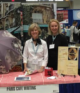 Jan Powers and Patricia Tennison represent Paris Cafe Writing at the AWP convention in D.C.