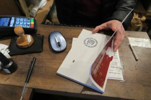 Get your book stamped at Shakespeare and Company, Paris.